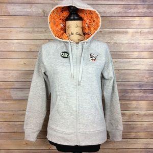 Disney Parks Womens Size Small gray orange hoodie